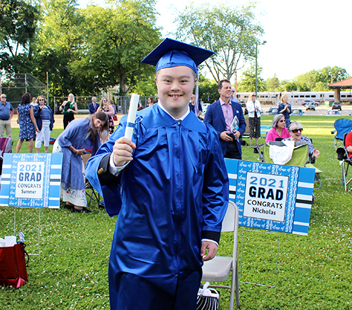 Nick Sordillo is among students who are staying in school for an additional year.